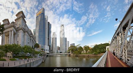 Singapore Business District, Asia - Stock Photo