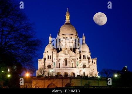 Europe, France, Paris, Sacre Coeur Basilica - Stock Photo