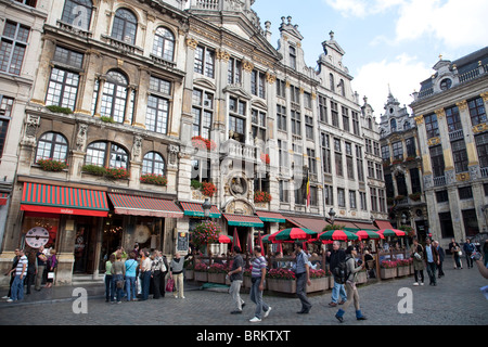 La Chaloupe d'Or Grote Markt, Brussels Bruxelles Belgium - Stock Photo