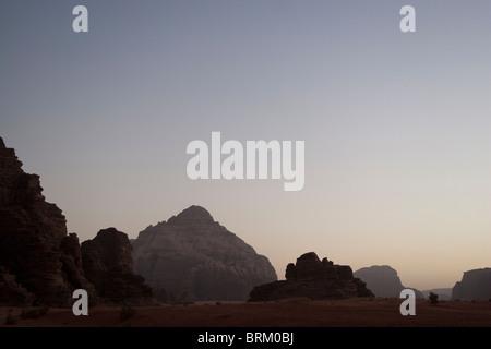 Sunset, Wadi Rum, Jordan. - Stock Photo