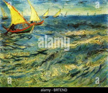 Vincent Van Gogh - The sea at Saint-Marie. 1883. - Stockfoto