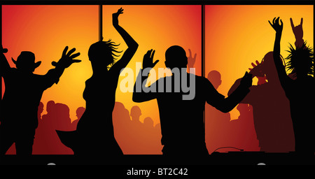 night-club concept (made from my photos) - Stockfoto