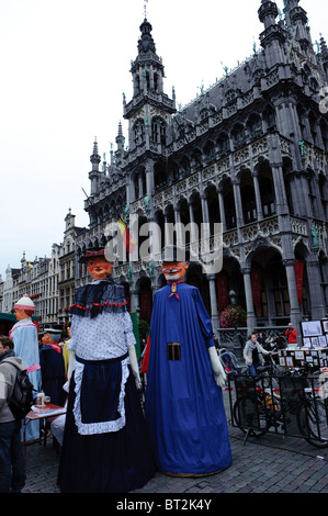 The Grand Place in Brussels - Stock Photo