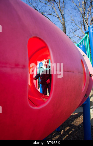 at a park in South Orange, New Jersey - Stock Photo