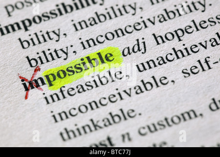 From the impossible to the possible - Stockfoto