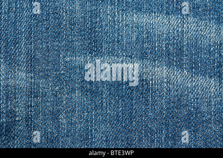 Close up shot of a blue denim - Stock Photo