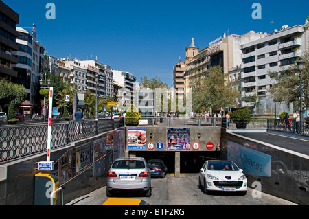 Granada Spain Andalusia underground parking garage - Stock Photo