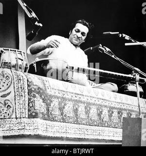 Ravi Shankar, musician, composer, performer and scholar, portrait, 1960s - Stock Photo