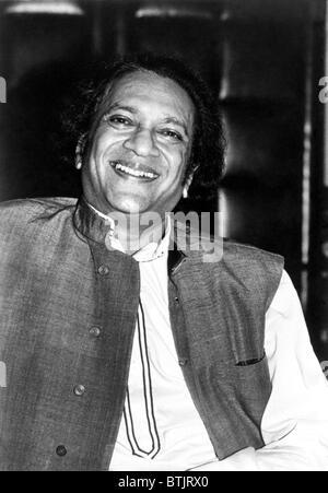 Ravi Shankar, musician, composer, performer and scholar, portrait, 1970s - Stock Photo