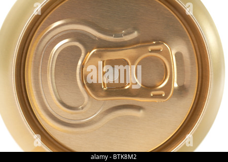 top of closed can - Stock Photo