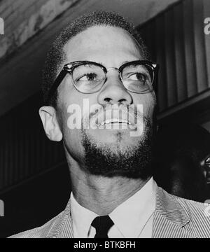 Malcolm X (1925-1965) in 1964, the year be adopted a Muslim name, el-Hajj Malik el-Shabazz, and a formed the Organization - Stock Photo