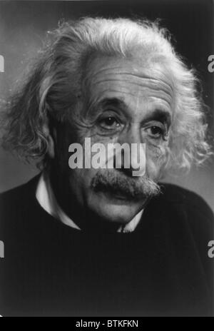 Albert Einstein (1879-1955), German-American theoretical physicist. Ca. 1940. - Stock Photo