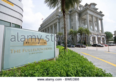 THE FULLERTON HOTEL SINGAPORE, five star luxury hotel in Singapore, Southeast Asia, Asia - Stock Photo