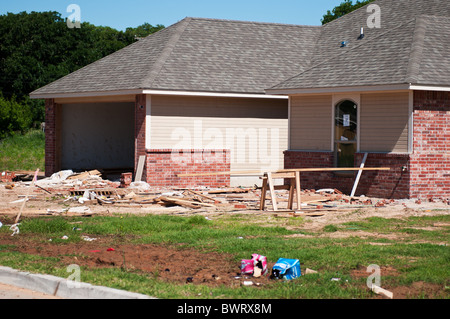 Frame house under construction stock photo royalty free for Building a house in oklahoma