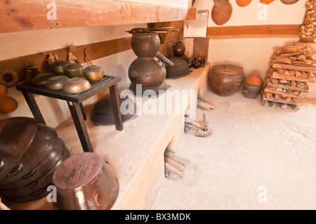 Inside an old traditional korean house with paper walls for Traditional korean kitchen
