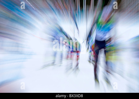 2010 Vancouver Winter Olympics; 2010 Vancouver Winter Olympics; Mens 50km Mass Start Classic, Cross Country Skiing - Stock Photo
