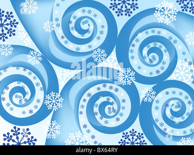 snowflake spiral abstract. holiday backgrounds. - Stock Photo