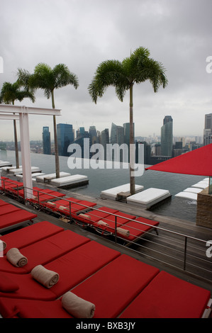 Marina Bay Sands Hotel Roof Pool Singapore Asia Destination View Stock Photo 60969139 Alamy
