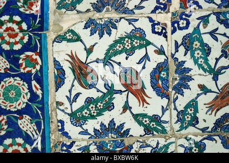 Tiles in the courtyard of the Eyüp Sultan Camii, İstanbul, Turkey 1009140135 - Stock Photo