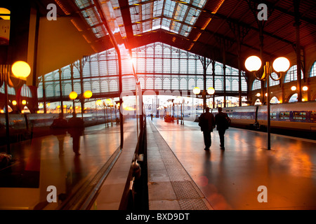 Europe, France, Paris, Gare du Nord - Stock Photo