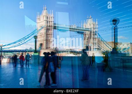 Europe, United Kingdom, England, London, Tower Bridge - Stock Photo