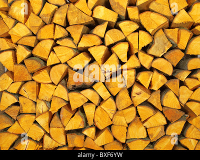 Beautiful alder wood from the stack of a particular color - Stock Photo