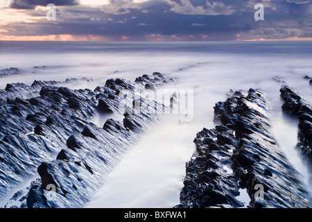 Welcombe Mouth, Devon, UK - Stock Photo