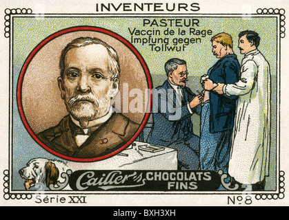 Pasteur, Louis, 27.12.1822 - 28.9.1895, French scientist (chemist) and medic / physician, portrait, inventor of - Stockfoto