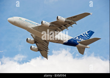 Airbus A380, the largest passenger airliner in the world. - Stock Photo