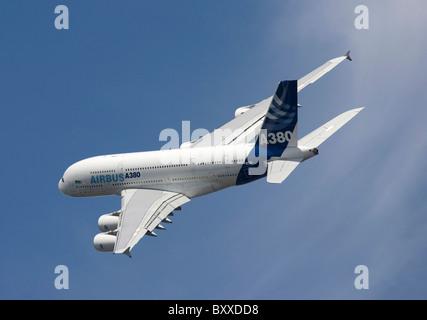 Airbus A380 Farnborough International Airshow 2010 - Stock Photo