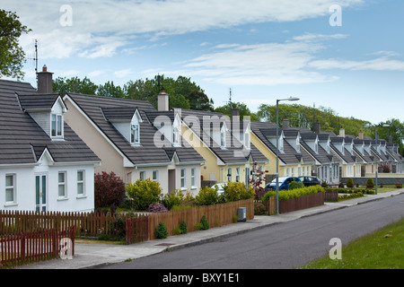 New build houses new development in County Cork, Ireland. EU funds led to 'Celtic tiger' investment in the Republic - Stock Photo