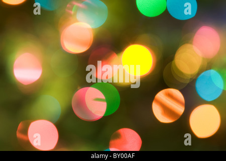 Image of Christmas highlights background with colorful confetti - Stock Photo