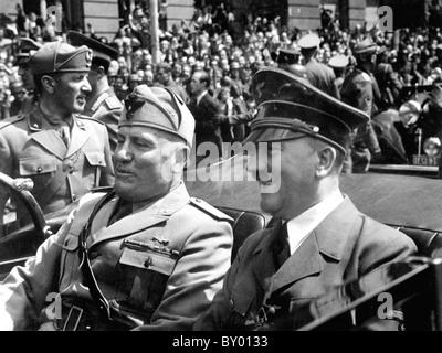 BENITO MUSSOLINI and Adolf Hitler in Munich in June 1940 - Stock Photo
