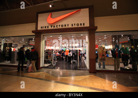 Store located in outlet mall