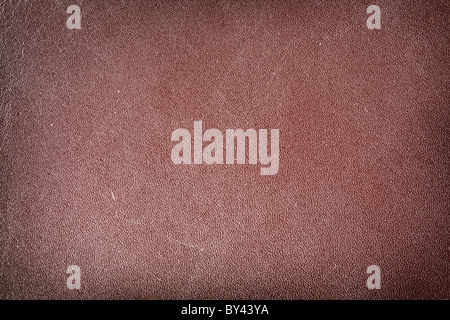 Image texture of brown leather. - Stock Photo