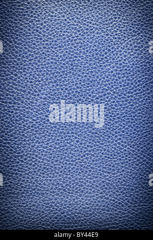 Image texture of blue leather. - Stock Photo