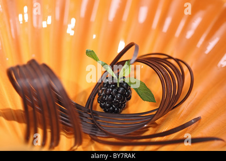 chocolate sugary berry - Stock Photo