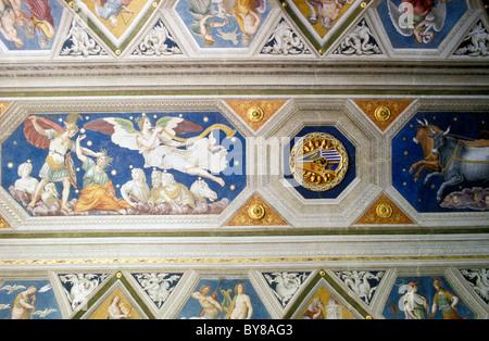 FRESCO, VILLA FARNESINA, MUSEUM, TRAVESTERE, ROME, ITALY - Stock Photo