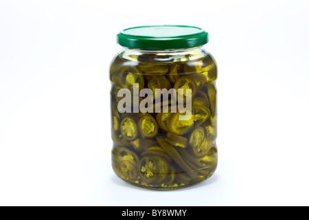 jalapeno jar - Stock Photo