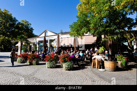 Sidewalk Cafe And Shops In The Resort Centre Torremolinos Costa Del Stock Photo 1251825 Alamy