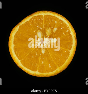Cut section of citrus fruit orange variety Succari - Stock Photo