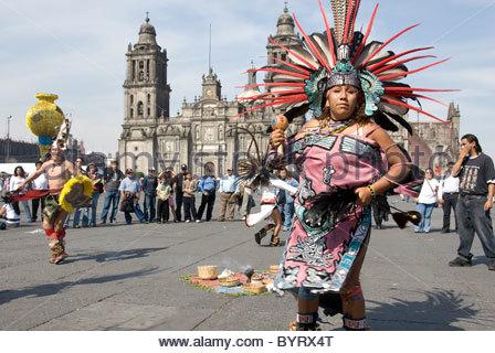 native Aztec dancers dancing performing in feathered ... Indigenous Aztec Women