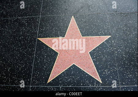 a blank hollywood star on the walk of fame stock photo