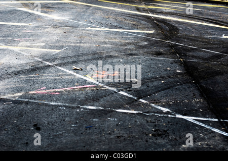 Road markings - Stock Photo