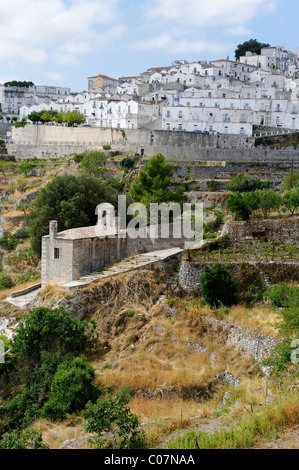 Monte San Angelo Sant´Angelo, Gargano, Province Foggia, Apulia or Puglia, South Italy, Europe - Stock Photo