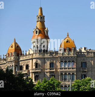 Teatre Tivoli theatre, and Hotel Barcelona, Plaza de Catalunya Catalonia square, Barcelona, Catalonia, Spain, Europe - Stock Photo