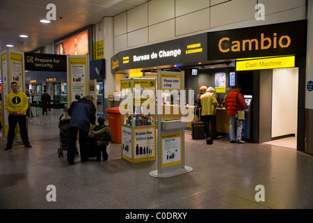 hand luggage security check gate with warning signs information stock photo royalty free. Black Bedroom Furniture Sets. Home Design Ideas