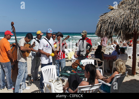 Son Musicians at Playa del Este , Santa Maria Del Mar, near Havanna Cuba - Stock Photo