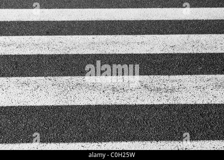 crosswalks, white on black asphalt - Stockfoto