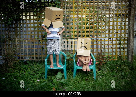 Angry faces - Stockfoto